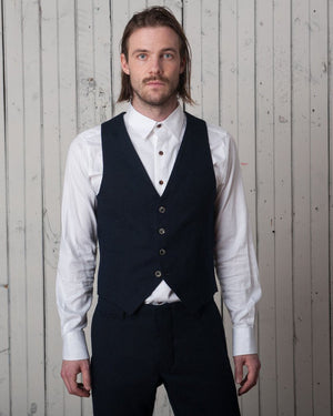 The Dakota Vest | Navy Wool
