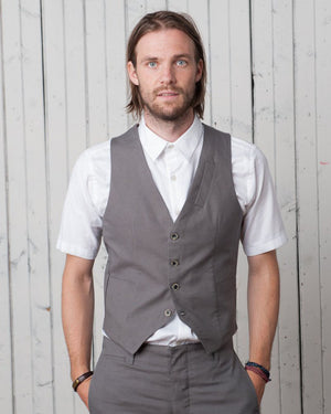 The Hunter Vest | Smooth Grey Twill