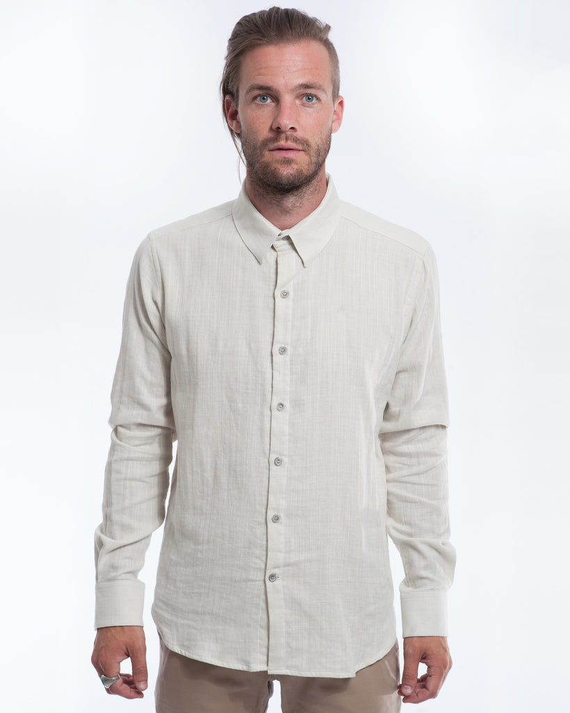 Cloudy Double Cloth Long Sleeve Shirt Front