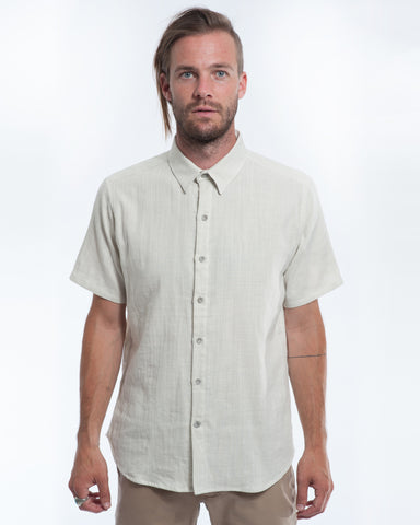 Cotton Cloudy Double Cloth Short Sleeve Shirt Front