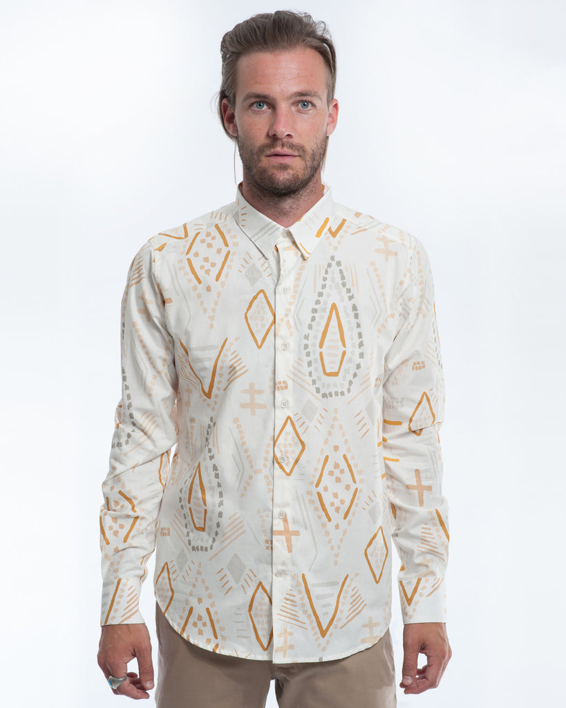 Cotton Southwest Long Sleeve Shirt Front