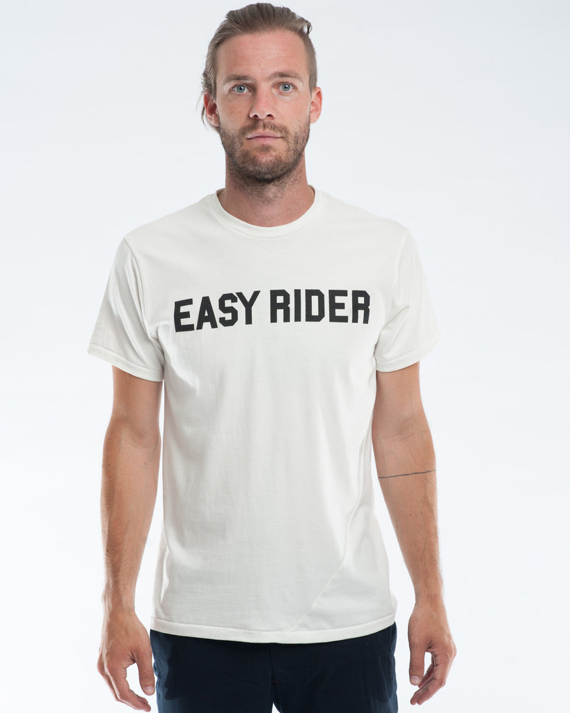 Cotton white easy rider t-shirt front