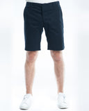 Cotton Soft Navy Twill Slim Short Front