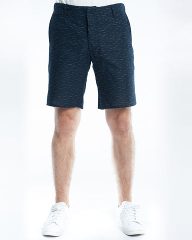 Cotton Indigo Dashes Slim Short Front