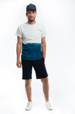 Cotton Indigo Dip Dye T-shirt Front Set