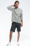 Cotton Soft Grey Twill Slim Short Front Set