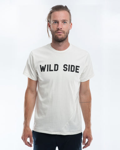 Cotton White Wild Side T-shirt Front