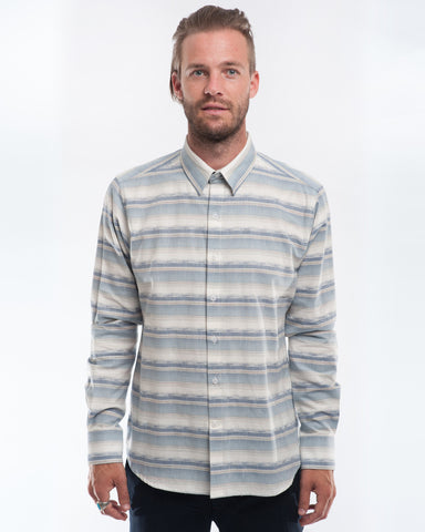Cotton Desert Stripes Long Sleeve Shirt Front