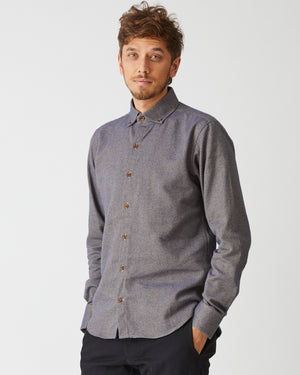 Windsor Shirt | Blue Herringbone