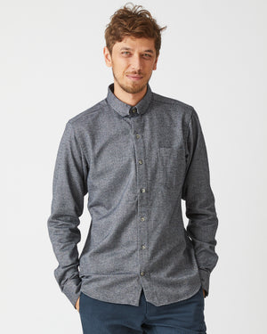Sterling Shirt | Black Herringbone