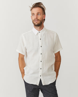 Short Sleeve Dylan | White Gauze