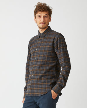 Dylan Shirt | Brown Black Plaid