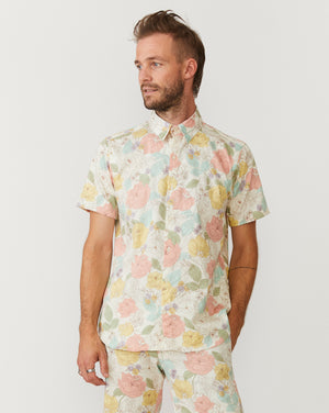 Short Sleeve Dylan | Light Flower Power