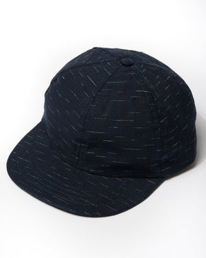 cotton indigo dashes cap front