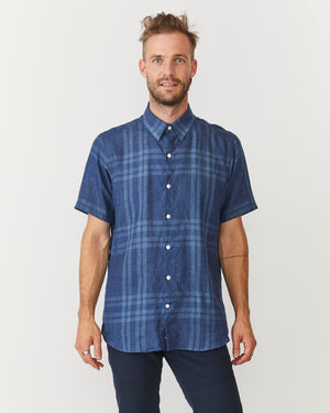 Short Sleeve Dylan | Big Blue Checks