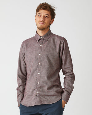 Dylan Shirt | Salty Burgundy