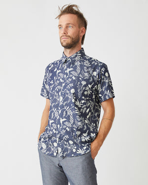 Short Sleeve Dylan | Garden Blues