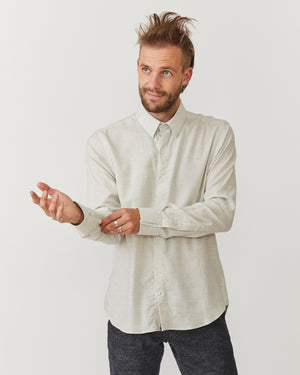 Long Sleeve Dylan | Light Melange Herringbone