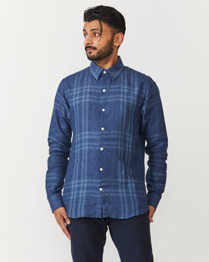 Long Sleeve Dylan | Big Blue Checks