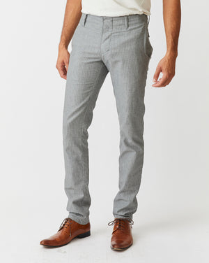 Slim Trouser | Grey Herringbone