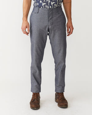 Slim Trouser | Blue Herringbone