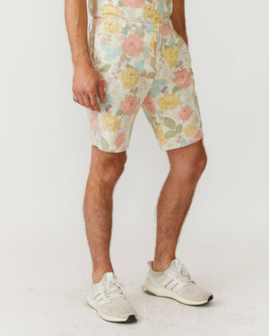 Slim Shorts | Light Flower Power