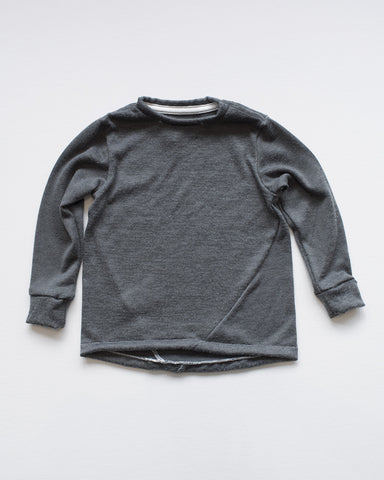 Hopper Hunter | The Skip Tee | Soft Charcoal Jersey