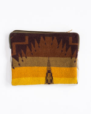 Pouch | Brown/Yellow Pendleton