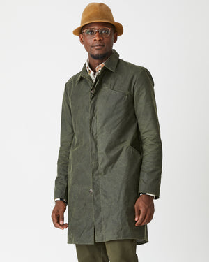Classic Trench | Olive Green Waxed Cotton
