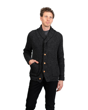 Knit Cardigan | Charcoal Wool