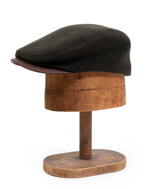 Billy Cap | Leather Visor | Loden