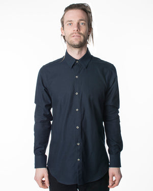 Dylan Shirt | Solid Navy Flannel