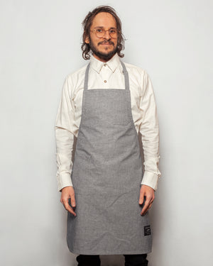 The Apron | Striped Chambray