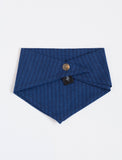 Kids Bandana Bib Handkerchief Navy Stripe - back