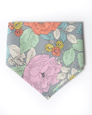 Cotton flower power bandana front