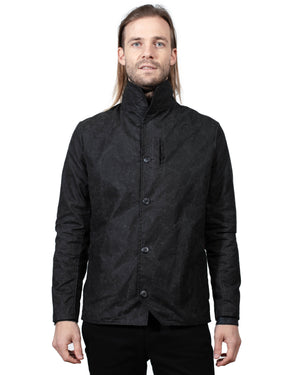 Mens Black Coat | 18 Waits | Front | Closed