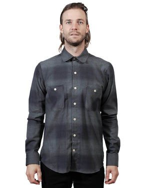 Grey Plaid Shirt | 18 Waits | Front