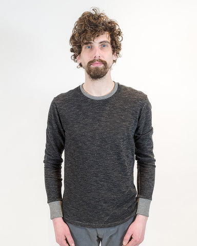 Black Long Sleeve T-Shirt - front