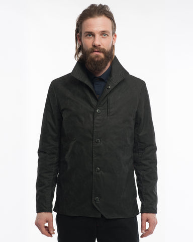 The Baumer | Black Waxed Cotton