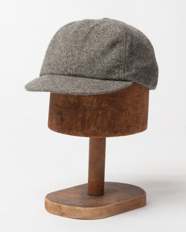 Brown/Black Twill Wool Cap - front