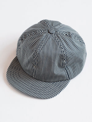 Kids Ball Cap - railroad stripe - front