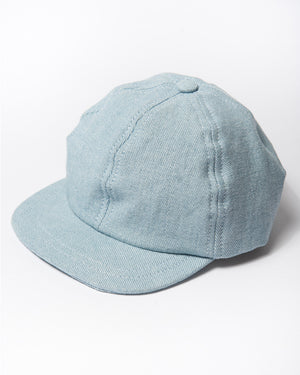 Cotton light denim cap front