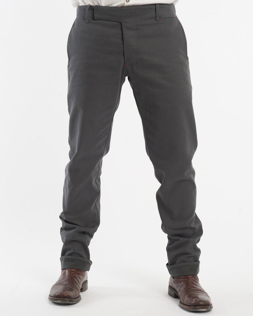 Charcoal Denim Pants - front