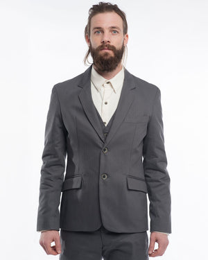 Atlantic Blazer Charcoal Herringbone Front