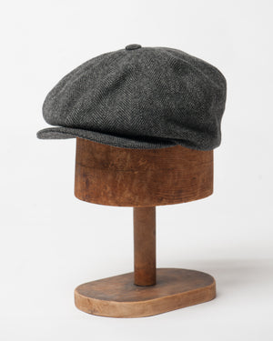 Charcoal Herringbone Cap