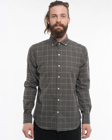 The Windsor | Charcoal Windowpane