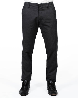 Mens Black Trousers | 18 Waits | Front