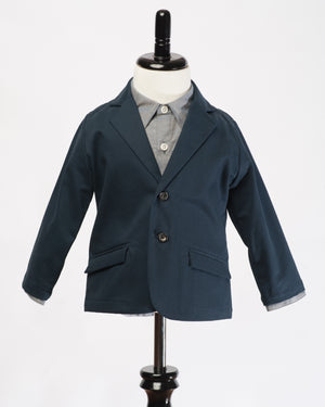 Kids Navy Blazer | Hopper Hunter | Front