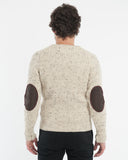 Cream Melange Wool Sweater - back