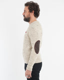 Cream Melange Wool Sweater - side